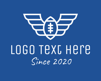 Nfl - White American Football Wings logo design