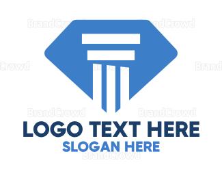 Mining - Diamond Pillar logo design