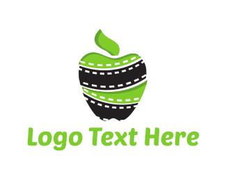Cinema - Apple Film logo design