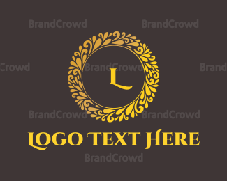 Fortune - Instagram Gold Circle logo design