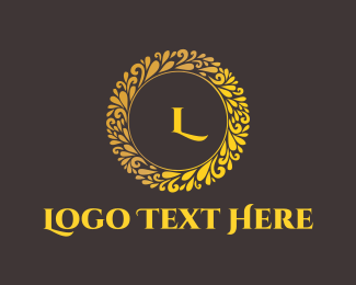 Luxury - Gold Circle logo design