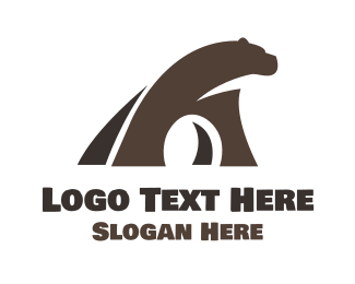 Grizzly - Brown Big Bear logo design