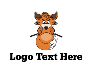 Fox - Armed Fox logo design