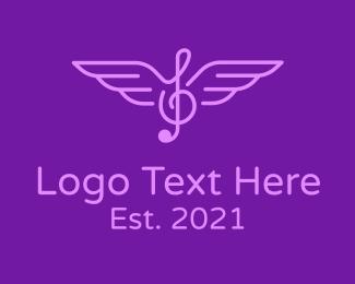 Music - Flying Music Note  logo design