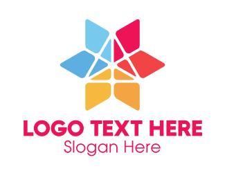 Manicure - Triangle Flower logo design
