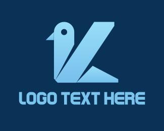 Way - Blue Bird K logo design