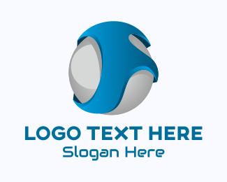 Progammer - 3D Sphere Letter F logo design