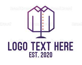 Collar - Geometric Masculine Clothing logo design
