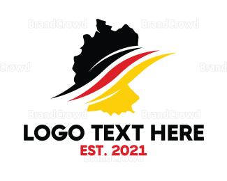 Berlin - Germany Stroke logo design