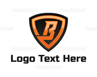 Letter - Shield Letter B logo design