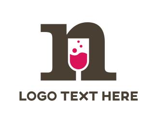 Wine Letter N Logo