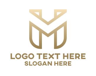 Pattern - Gold M Pattern logo design