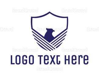 """Blue Eagle Shield"" by LogoBrainstorm"