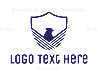 Aviary - Blue Eagle Shield logo design