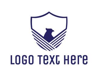Shield - Blue Eagle Shield logo design