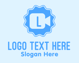 Video - Blue Video Lettermark logo design