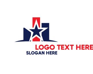 Analyst - American Star Chart logo design