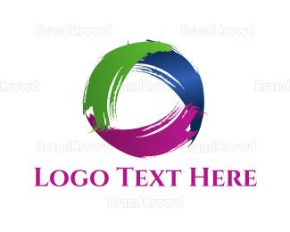 Donation Center - Brushstroke Circle logo design