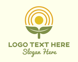 Herbal Medicine - Sunlight Plant Sprout logo design