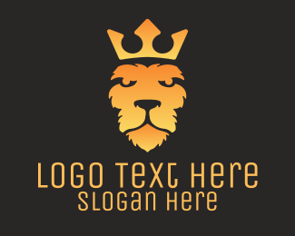 """Gradient Lion Head"" by LogoBrainstorm"