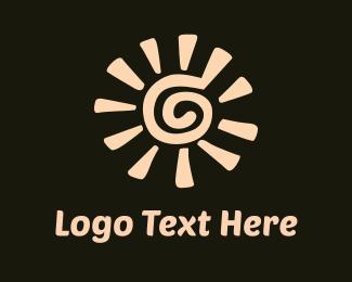 Sunset - Desert Sun  logo design