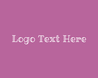 Signature - Purple & Cute  logo design