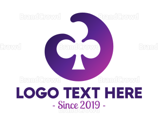 Fortune - Violet Clubs Badge logo design