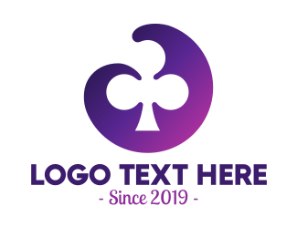 Gamble - Violet Clubs Badge logo design
