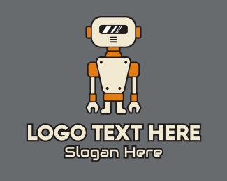 Droid - Robot Helper Mascot logo design