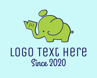 Trunk - Green Elephant logo design