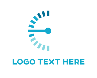 Acceleration - Blue Speedometer logo design