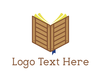 Learn -  Crate Book logo design