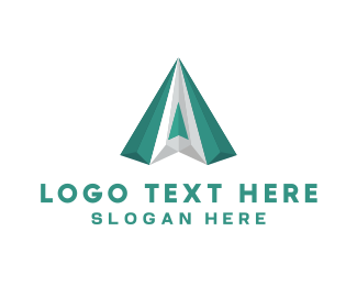 Letter A - Green Diamond logo design