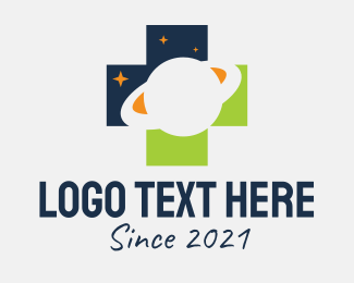 Negative Space - Outer Space Cross logo design