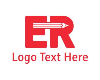 Press - Pencil E & R logo design