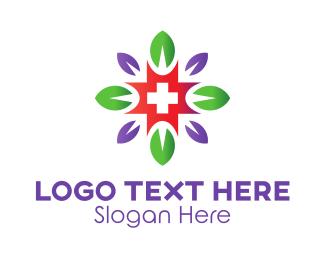 Cross - Flower Cross logo design