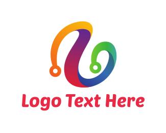 Circuit - Colorful Circuit logo design