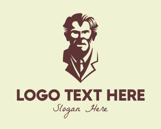 Scientist - Vintage Scientist Bust logo design