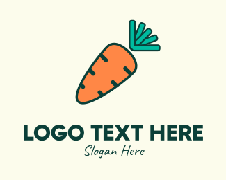 Farm Market - Orange Organic Carrot logo design
