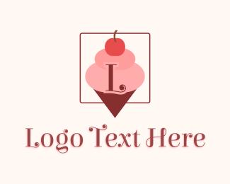 Sweet Tooth - Ice Cream Sundae Letter logo design