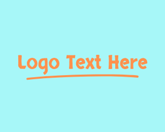 Lesson - Childish Wordmark logo design