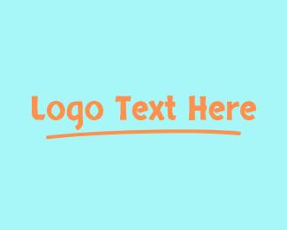 Chalk - Childish Wordmark logo design