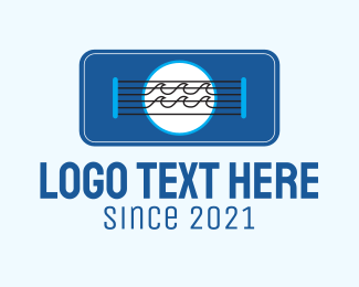 Guitar Lesson - Beach Guitar Strings logo design