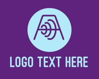 Fitness Training - Abstract Dumbbell Letter A logo design