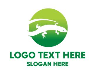 Gecko - Reptile Circle logo design