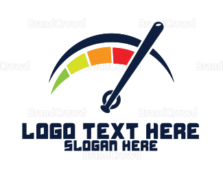 Cricket - Blue Bat Gauge logo design