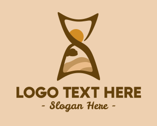 Sightseeing - Desert Hourglass logo design