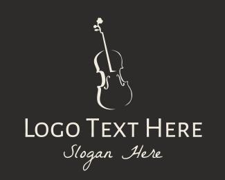 Conductor - Minimalist Violin Instrument logo design