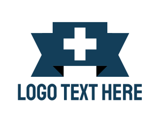 Plus - Swiss Cross Banner logo design