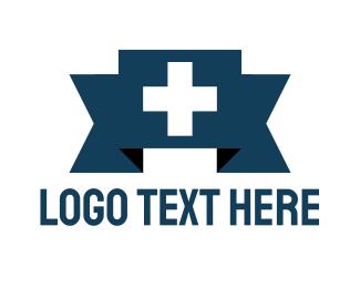 Chemist - Swiss Cross Banner logo design